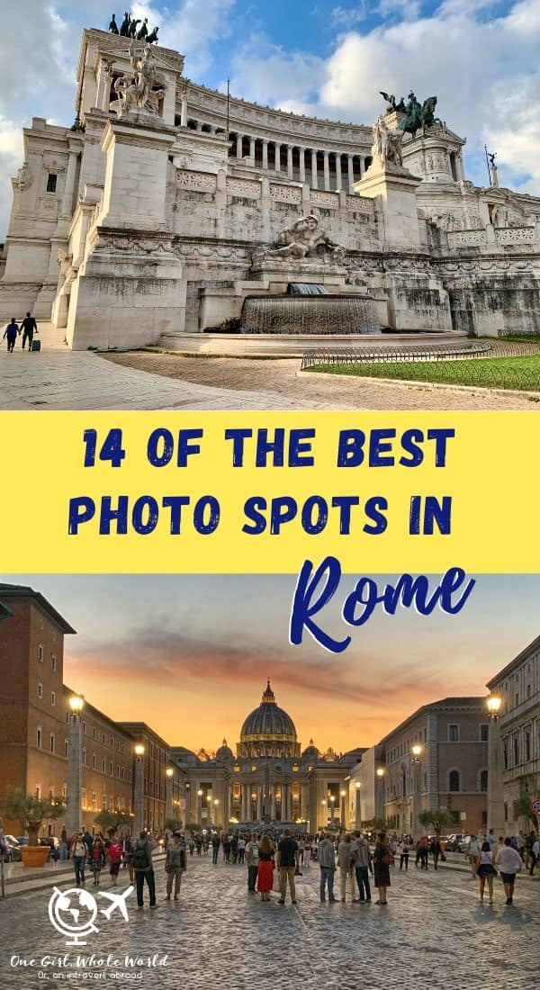 14 of the Best Photo Spots in Rome...and Best Times of Day | Rome is one of my favorite cities, and there are endless ways to capture its beauty! From the best angles and times to capture well-known sites like St. Peter's and the Trevi Fountain, to spots people forget like the Largo di Argentina, here's a guide to my favorite spots, angles, and times of day. #rome #photography #travelguides #italy