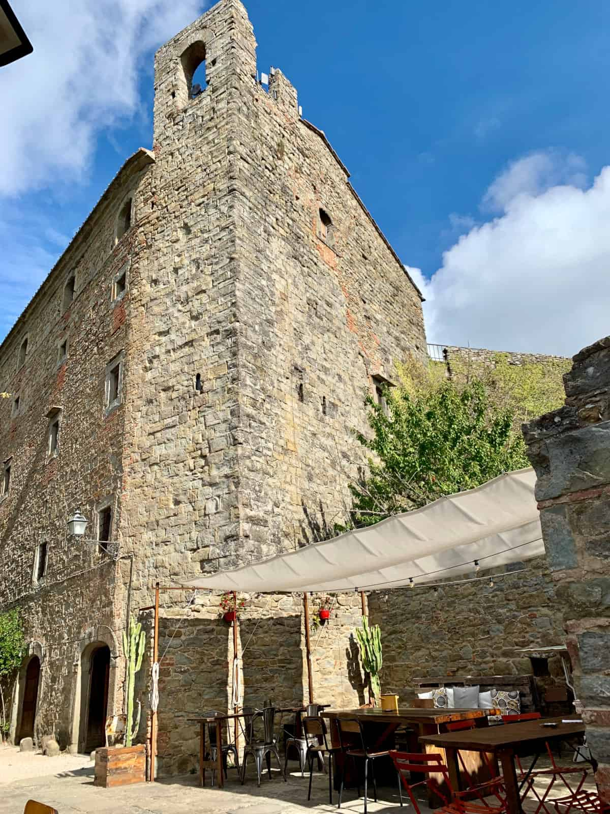 The cafe at the fortress...Cortona restaurants to try