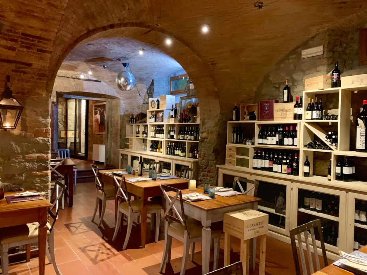 Ambiance at Bottega Baracchi - the best Cortona restaurants