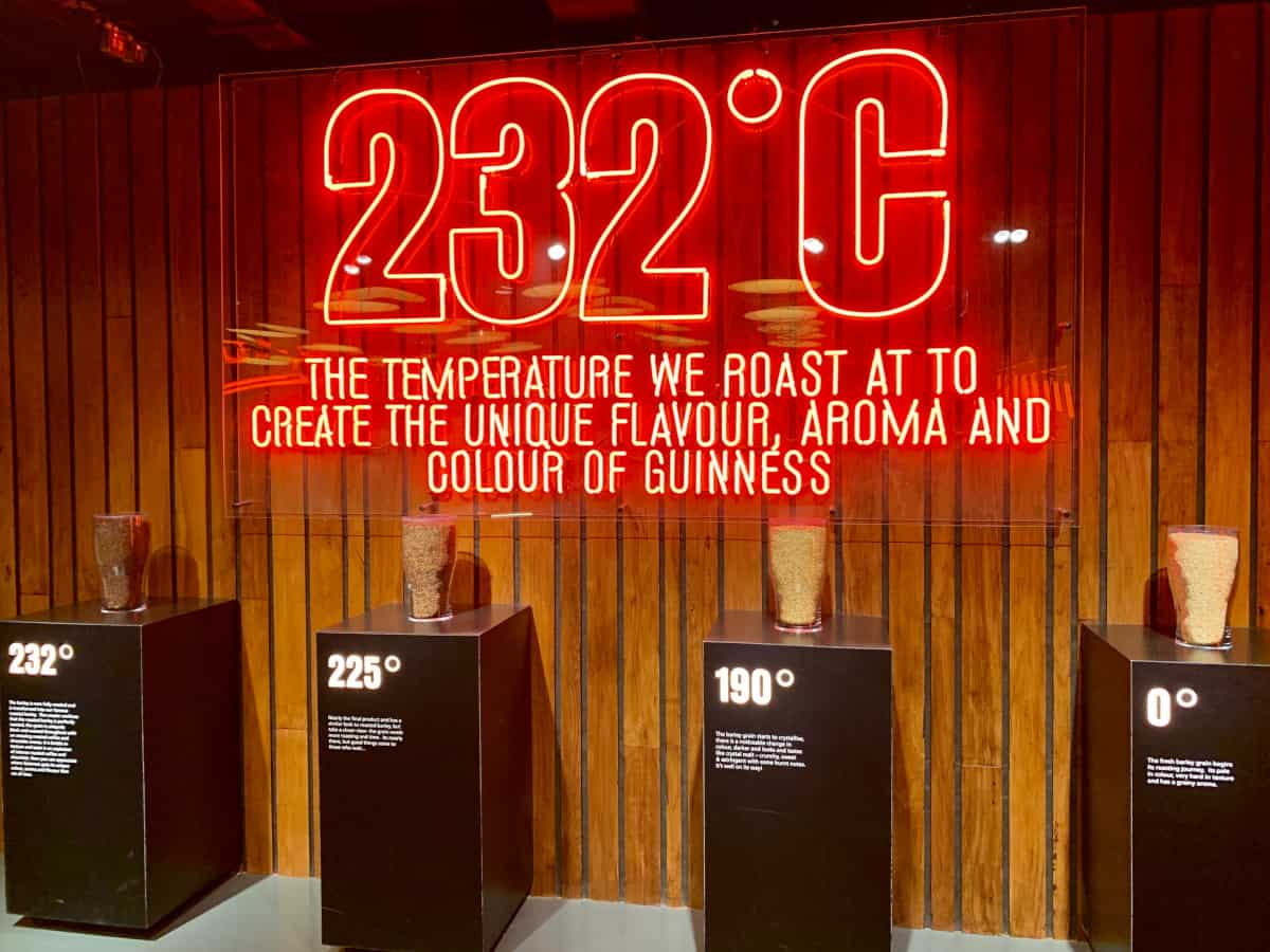 Interactive experiences on the Guinness tour in Dublin