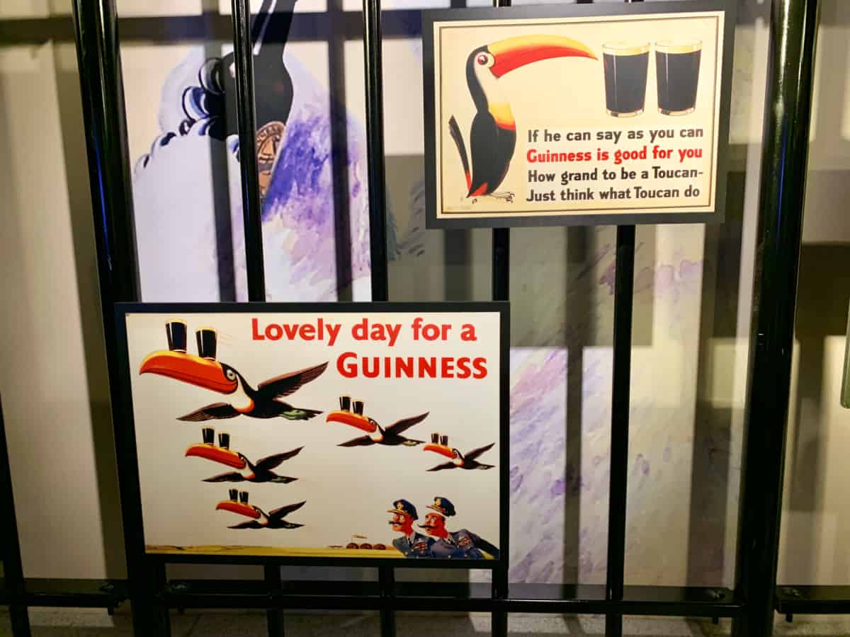 Guinness Storehouse shows its past advertising
