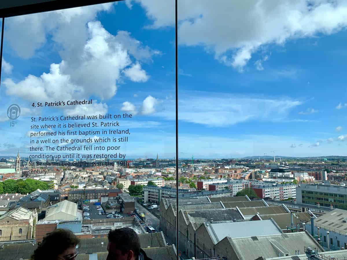 The view from Gravity Bar at Guinness Storehouse, Dublin