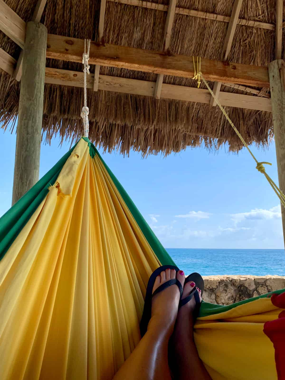 Living that hammock life in Negril, Jamaica