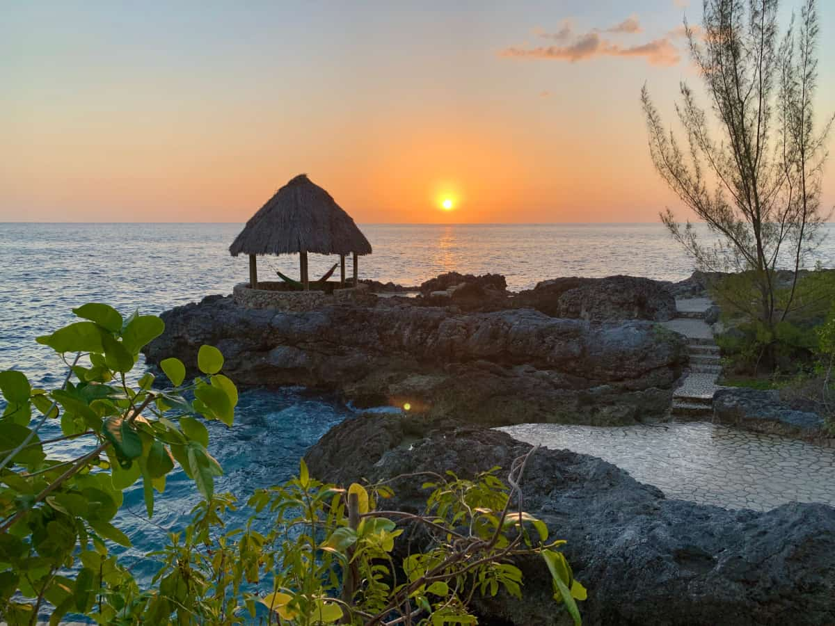 A beautiful sunset at Tensing Pen, Jamaica