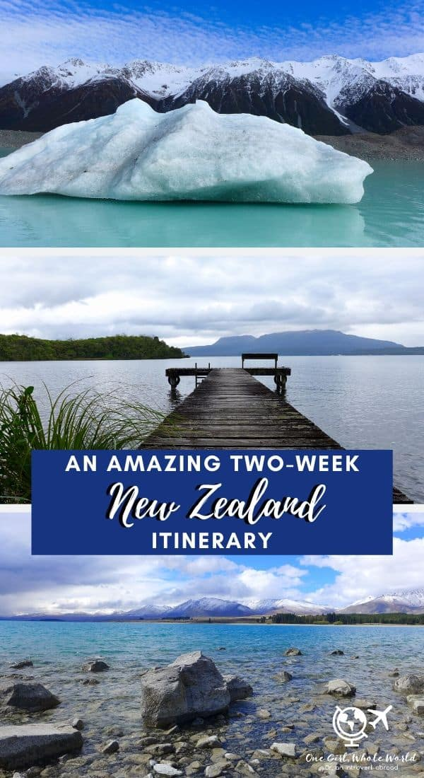 Planning An Awesome Two-Week New Zealand Itinerary | New Zealand remains one of my all-time favorite trips, a truly epic variety of gorgeous landscapes and interesting experiences. How to plan a New Zealand roadtrip, how to plan your itinerary in New Zealand, where to go, and what is a must-see. From Lake Tekapo to Hooker Valley, Abel Tasman to wine country, Hobbiton to glaciers, and more, this detailed guide will help you plan and prepare. #newzealand #itinerary #laketekapo #hookervalleytrail #hobbiton