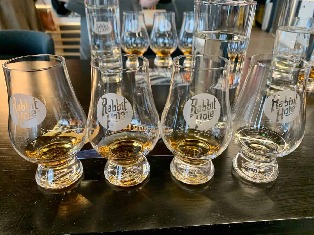 A tasting at Rabbit Hole Distillery in Louisville, Kentucky