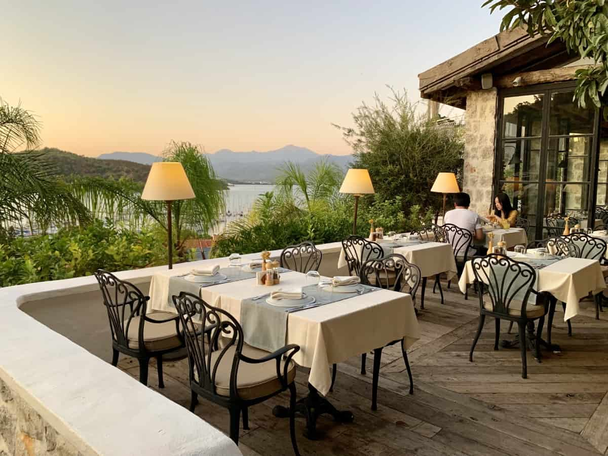 Sunset dining at Fethiye's Hotel Unique