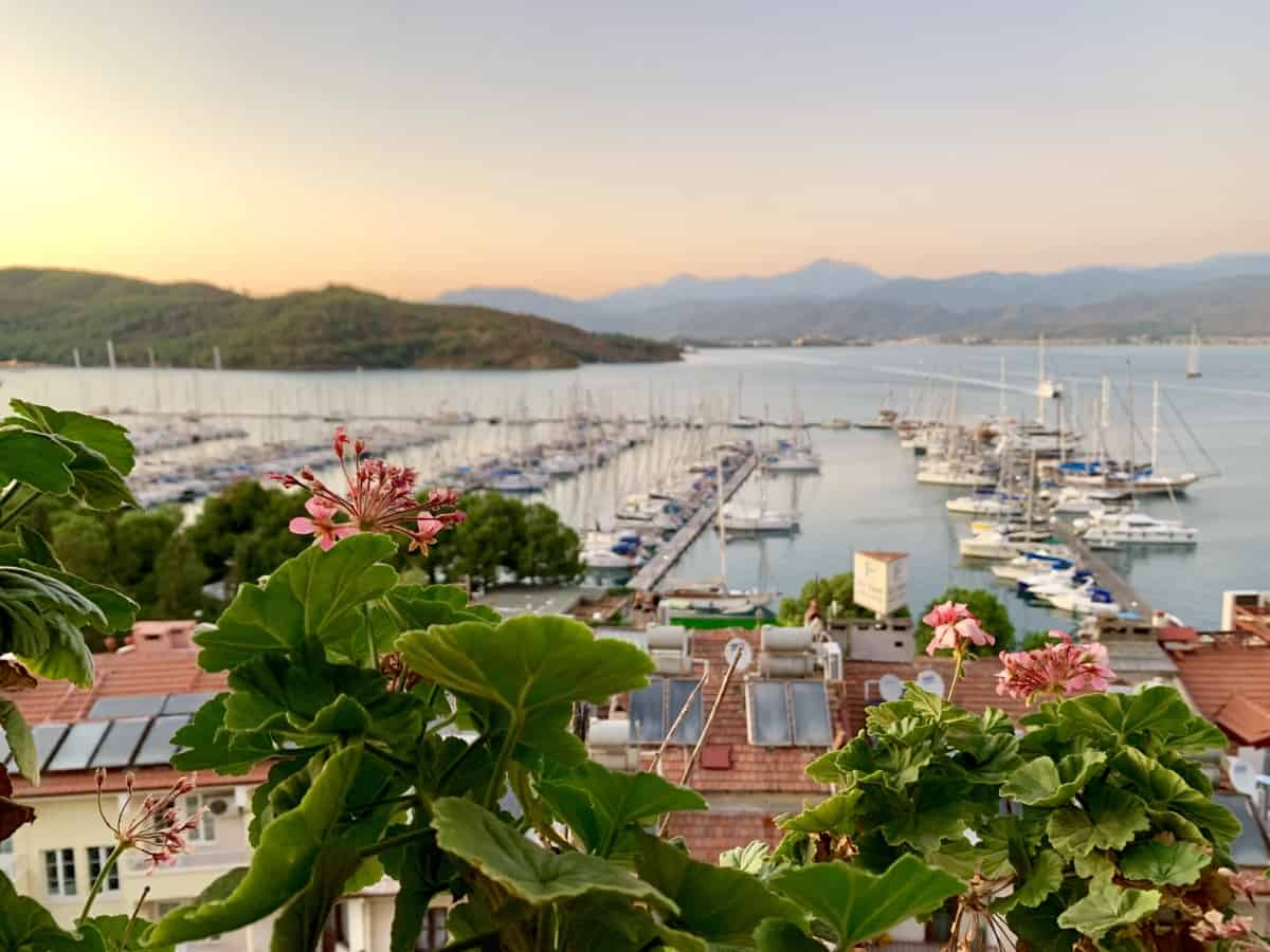 Beautiful sunrise view from Hotel Unique, Fethiye, Turkey
