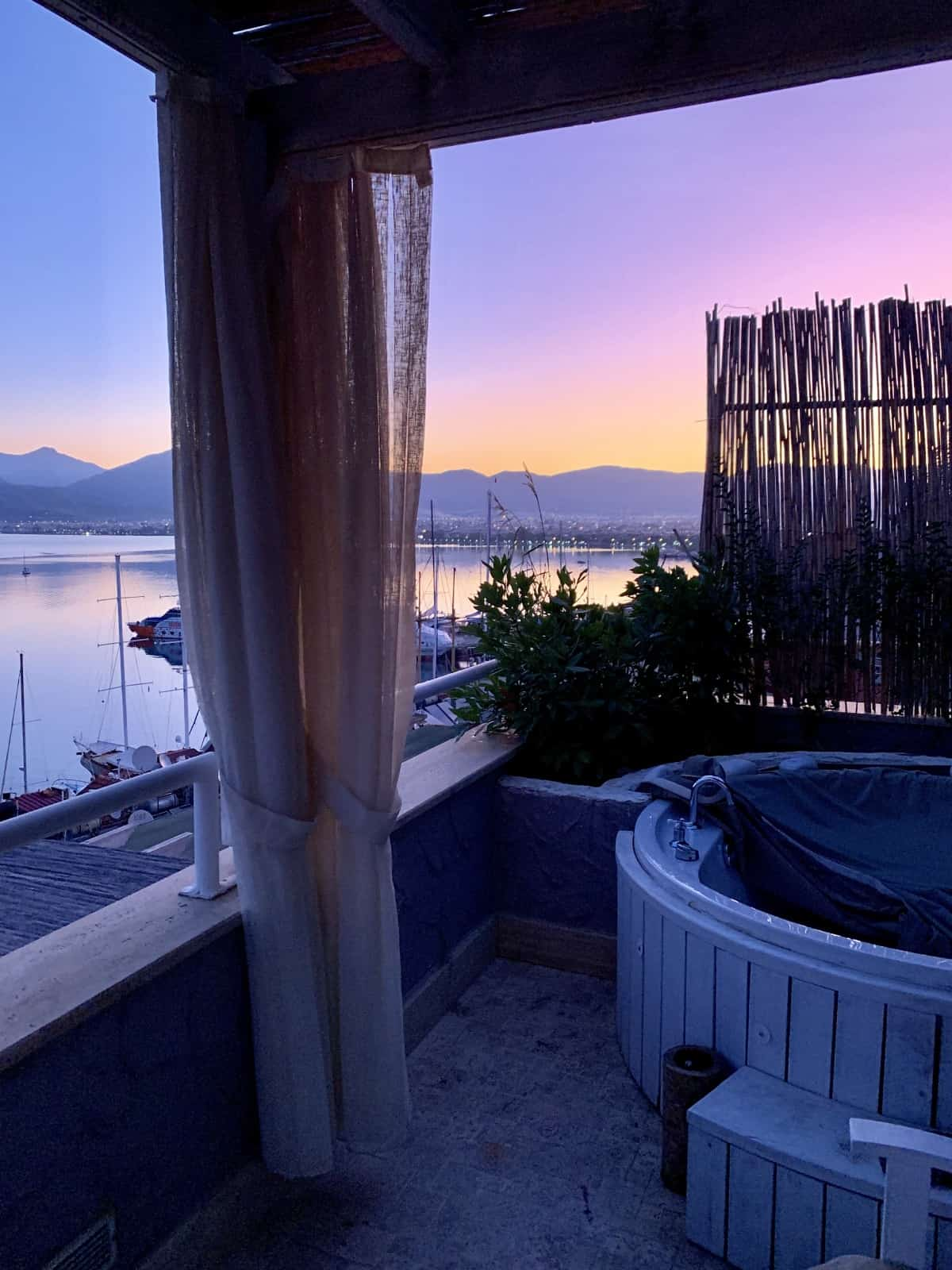 Peaceful sunrise from my balcony - Hotel Unique, Fethiye, Turkey