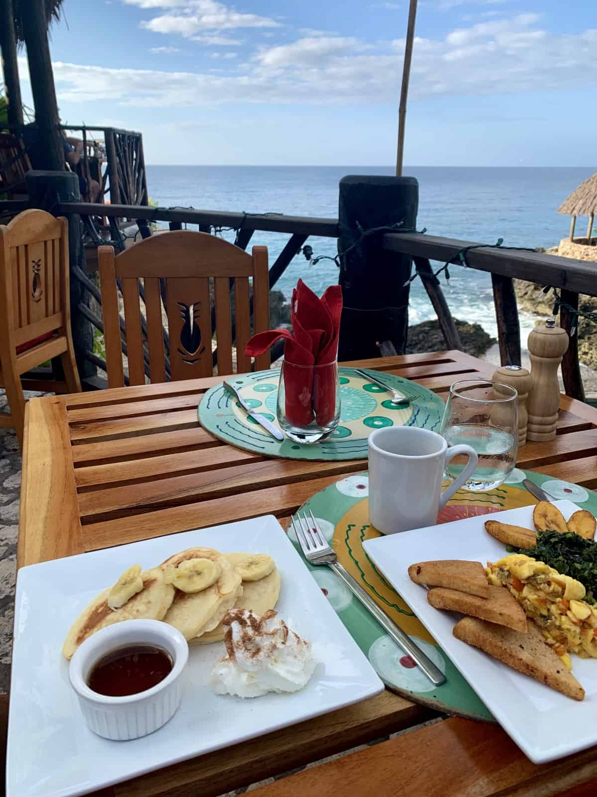 Banana pancakes are always the answer in Negril
