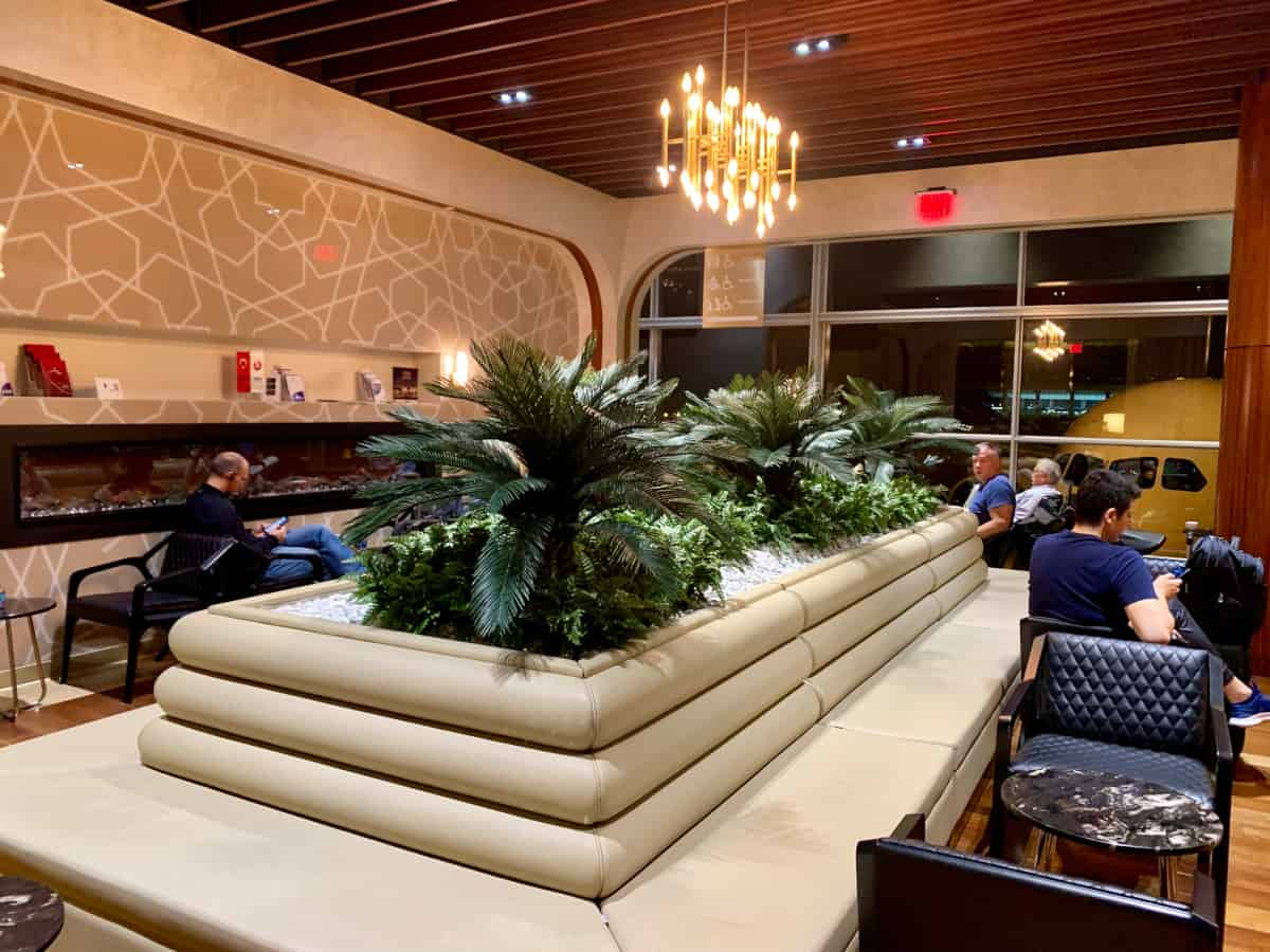 The Turkish Airlines lounge in Washington, DC
