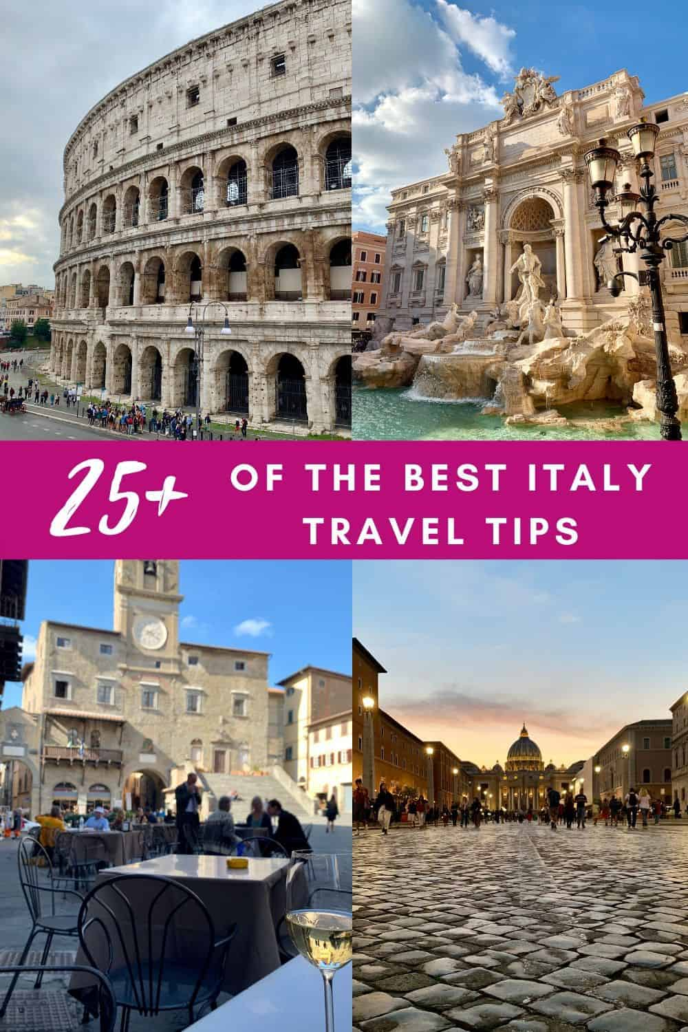 25+ of the Best Italy Travel Tips | These important things to know before traveling to Italy will help your trip go smoothly. From food and drink to social etiquette to train travel, these travel tips for Italy are a must-have! What to do in Italy, planning a trip to #italy #rome #florence #milan and more #traveltips