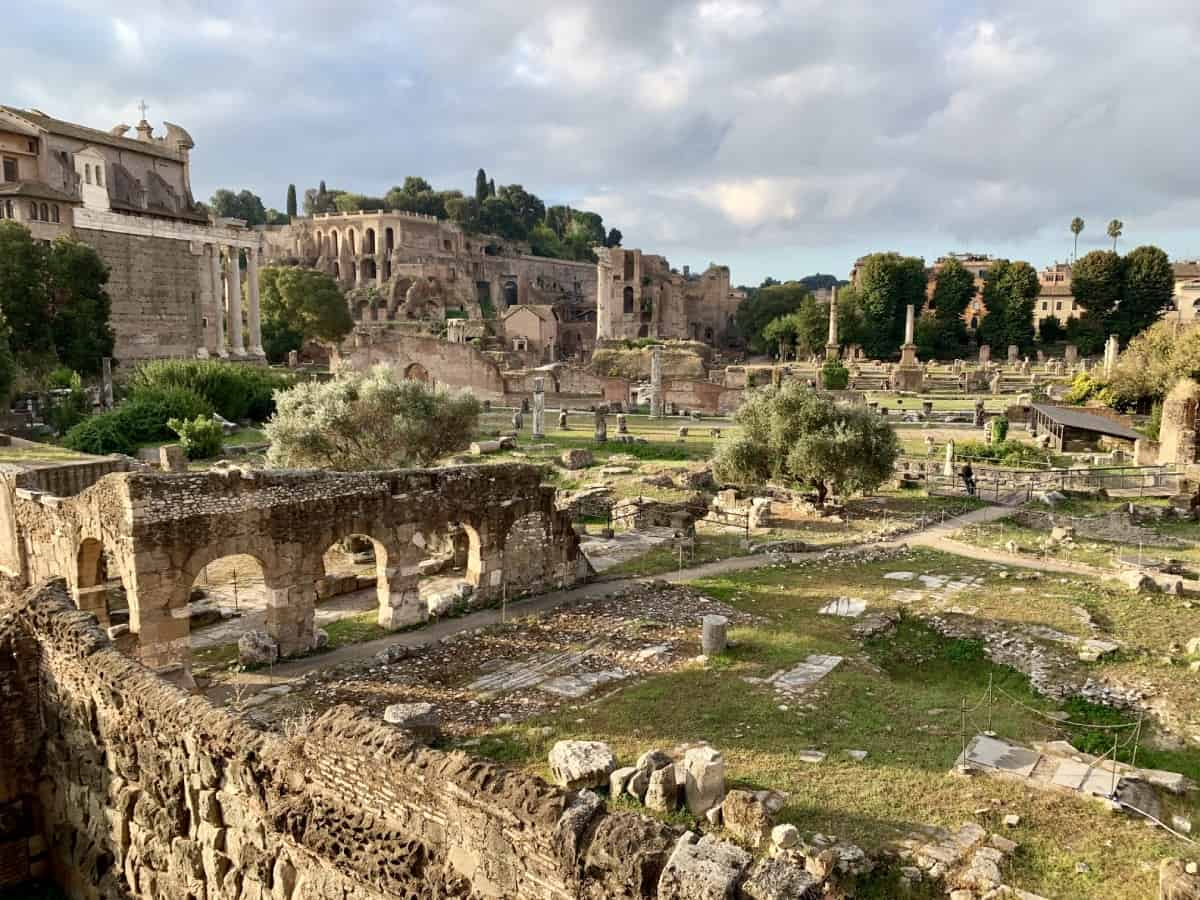 Run past the Roman Forum ruins...an early morning running route in Rome