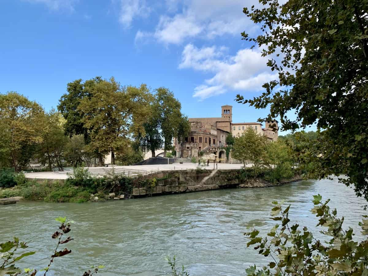 Beautiful Tiber Island up close...an early morning running route in Rome