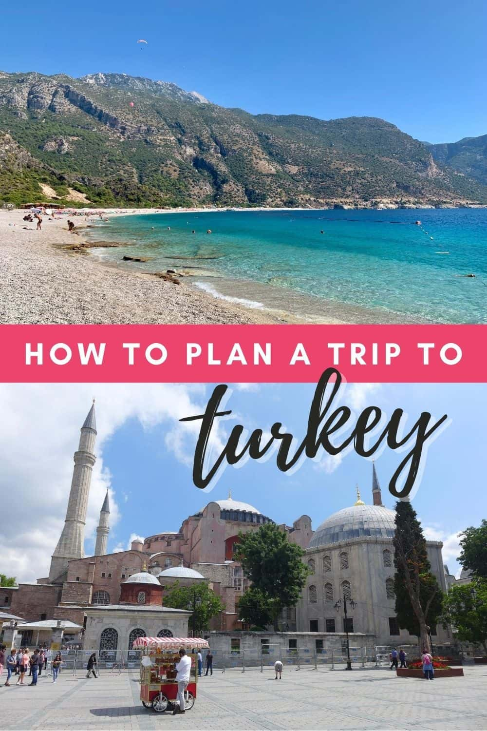 Turkey Trip Planning: A Detailed Guide for First-Timers | How to plan a trip to Turkey, including detailed tips on visas, currency, safety, food, where to stay, what to eat, what to wear in Turkey, transportation, and more. Turkey travel tips, where to go in Turkey, Turkey trip planning tips #turkey #traveltips #travelguide