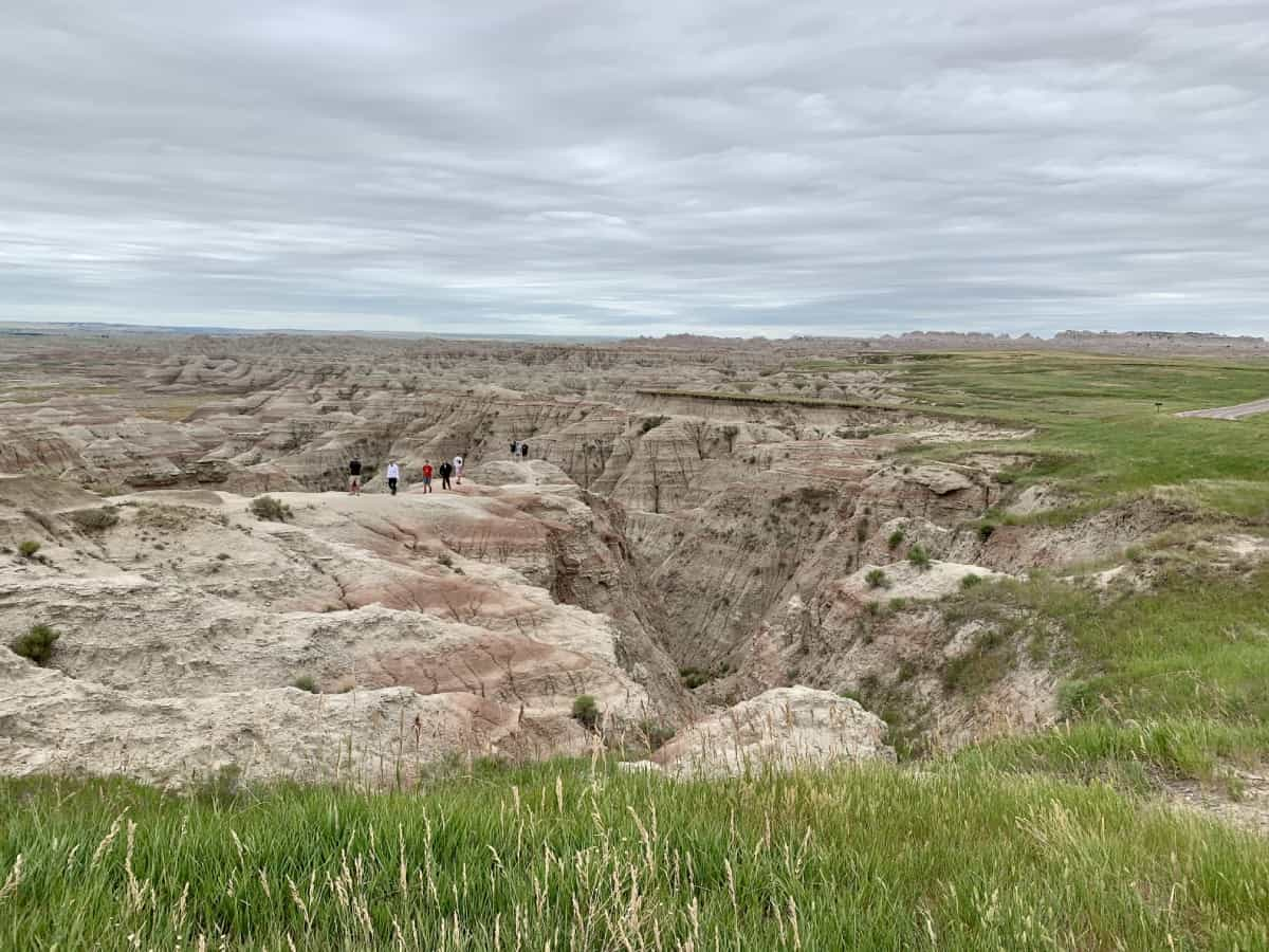 The vast landscapes of Badlands National Park