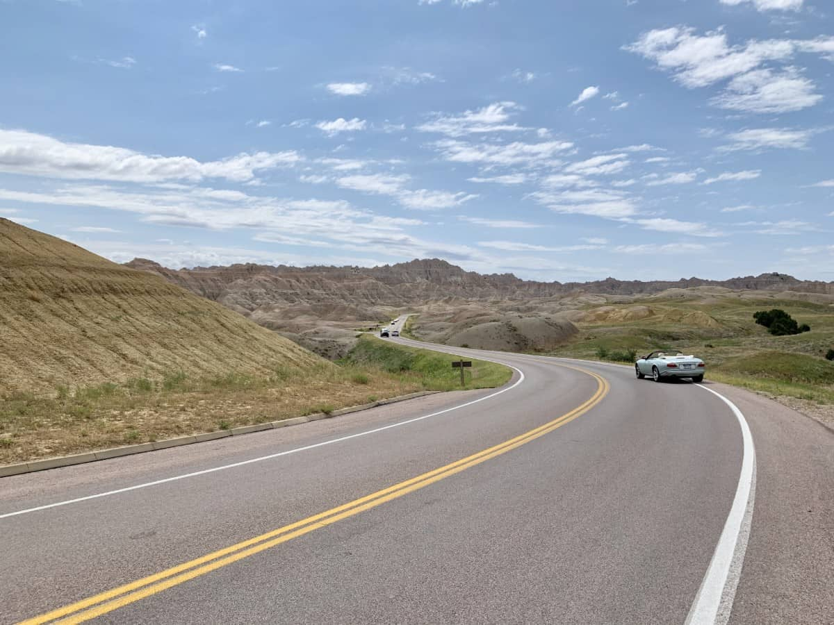 Stopping at Yellow Mounds Overlook in Badlands