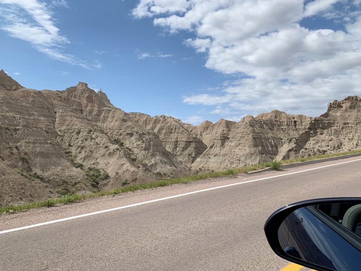 Driving through Badlands - things to do in Badlands National Park