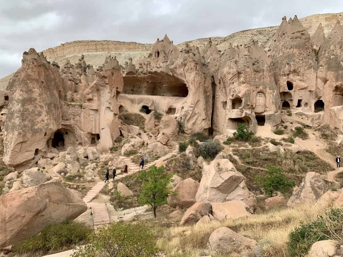 The amazing landscapes of Cappadocia, Turkey (Zelve)