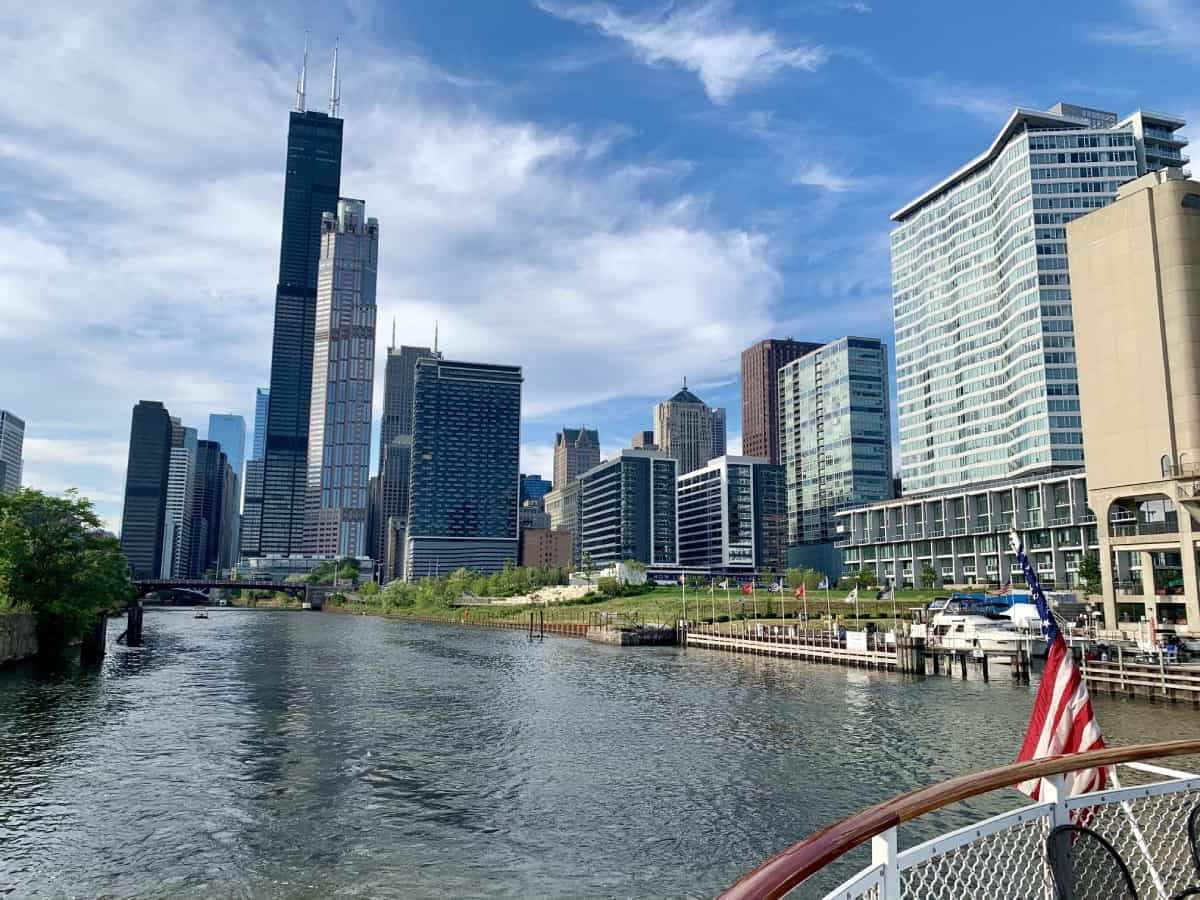 Beautiful views along the Chicago Architecture Foundation river cruise