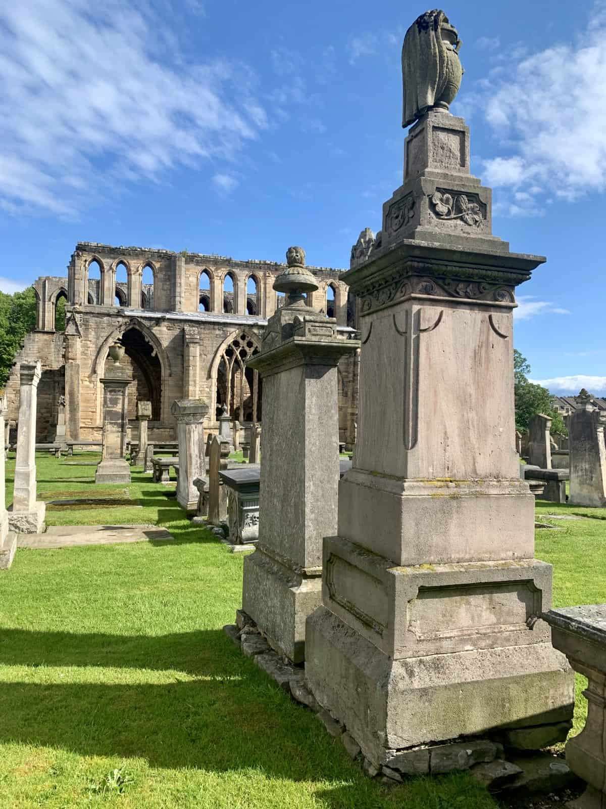 Super old gravestones at Elgin Cathedral, in the Moray region of Scotland