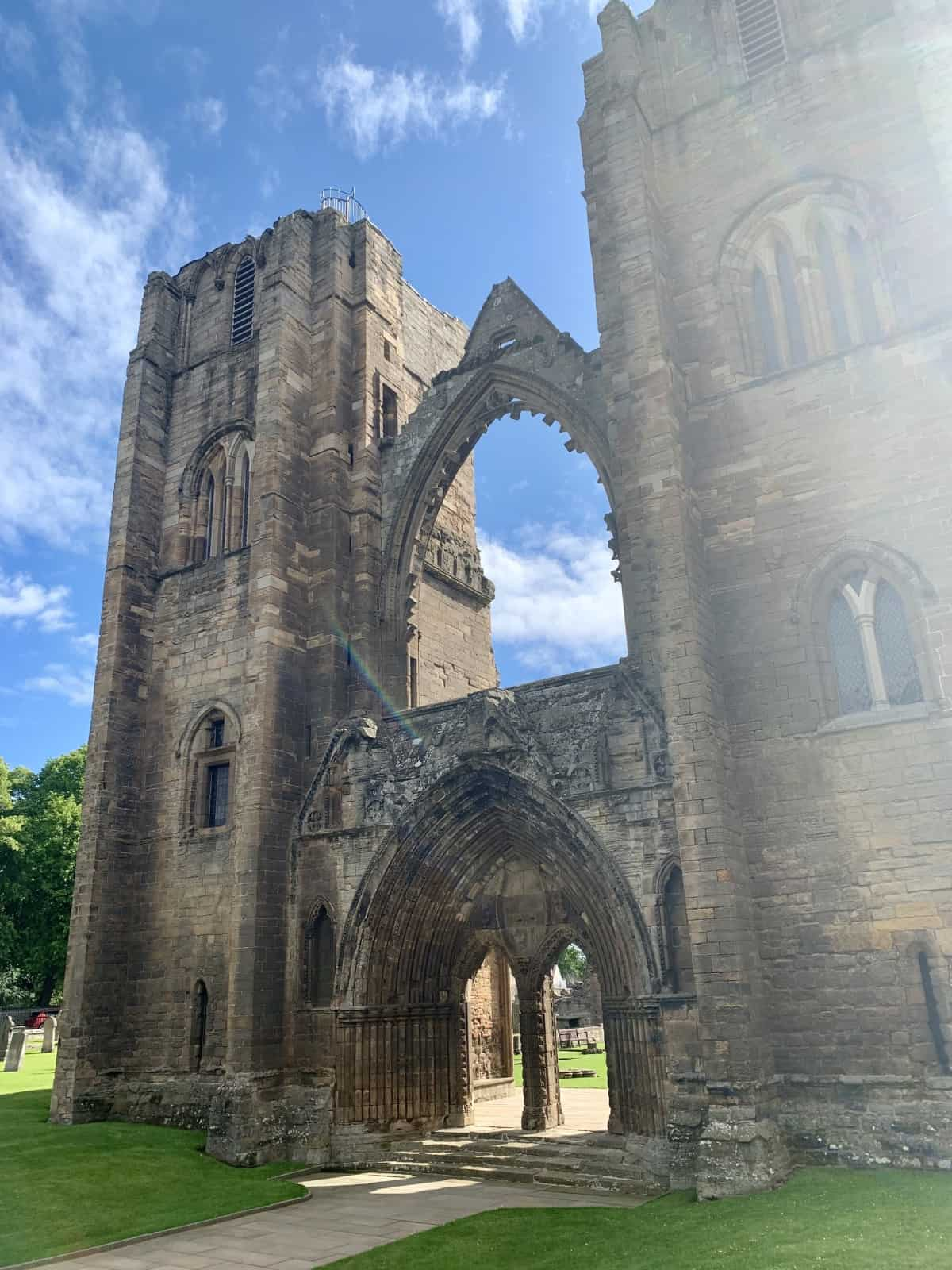 A beautiful day at historic Elgin Cathedral