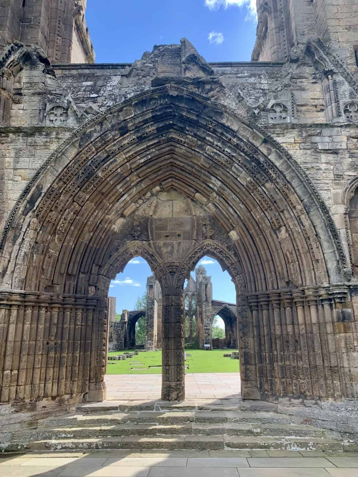 The giant doors of Elgin Cathedral