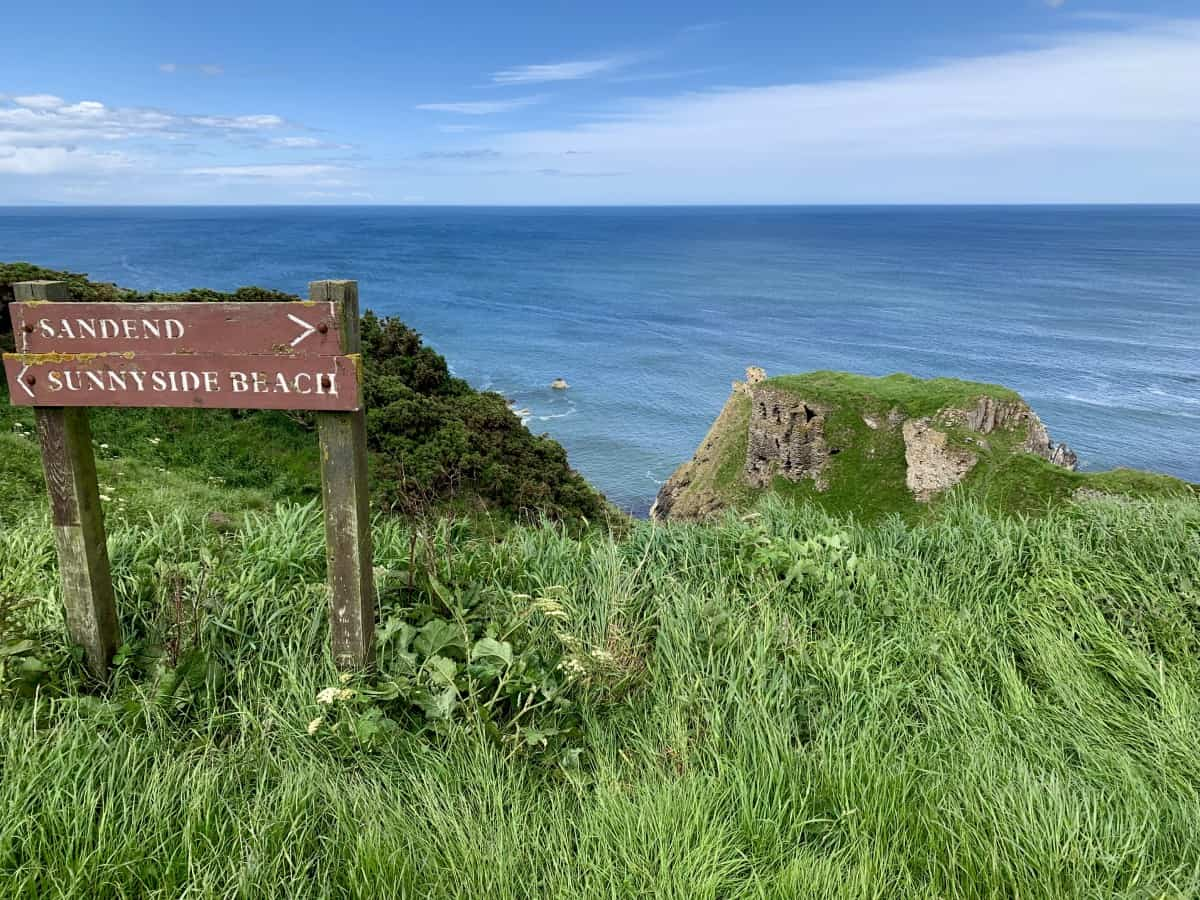 Findlater Castle's ruins are a perfect stop along the North East 250 route