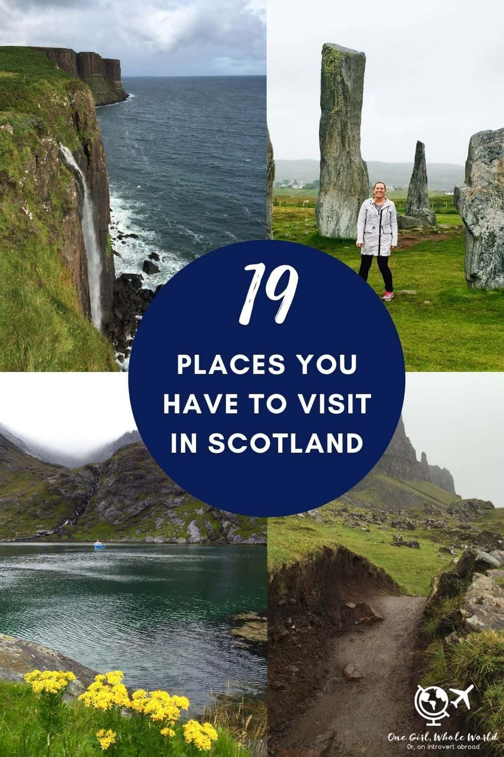 19 of the Best Places to Visit in Scotland | If you're wondering where to visit in Scotland, here are some of the most beautiful & interesting places that should be on your itinerary. From the beaches of Harris & Lewis to the remote Loch Coruisk, ancient standing stones, hiking, wildlife, castles, and more! What to do in Scotland, Scotland itinerary tips. #scotland