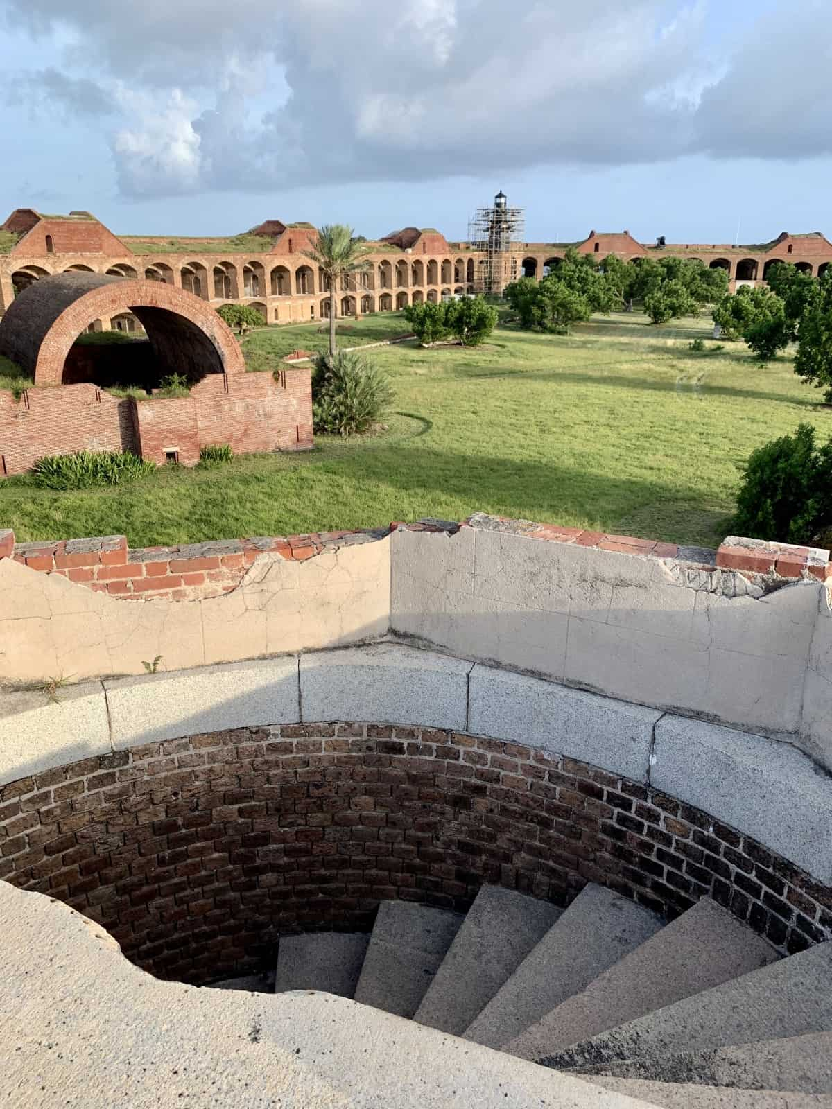The spiral staircases of Fort Jefferson...climb to get the best views of Dry Tortugas National Park