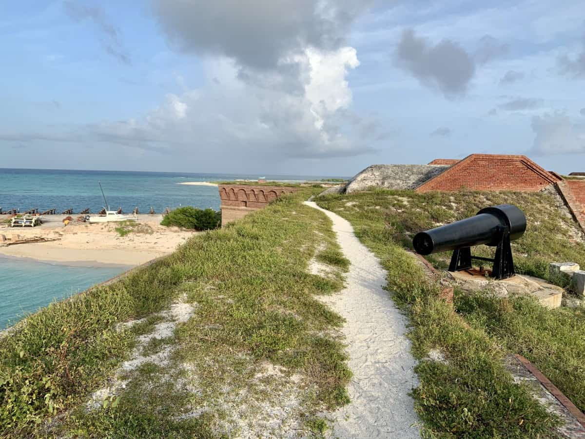 Walking along the top of Fort Jefferson...views on all sides