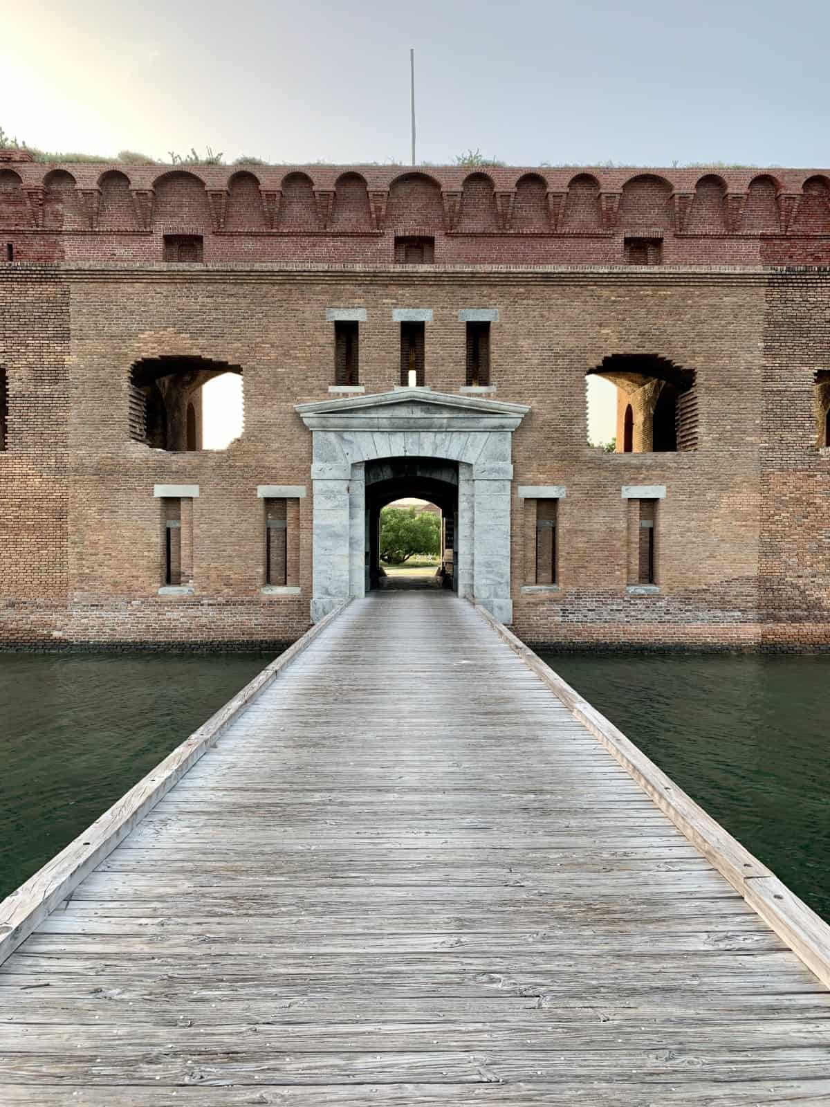 Entrance to Fort Jefferson...what to see and do at Dry Tortugas National Park