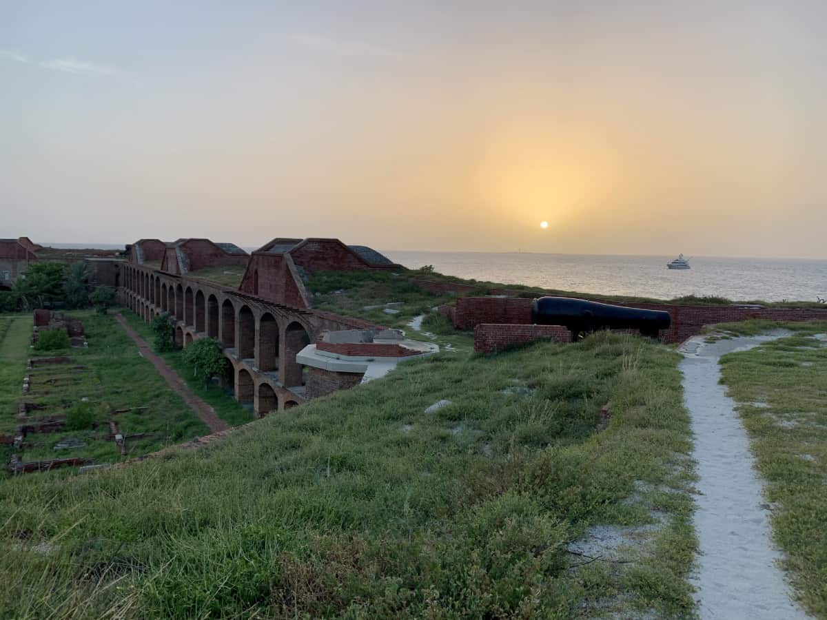 If you a take a private charter to Dry Tortugas, you can have Fort Jefferson all to yourself
