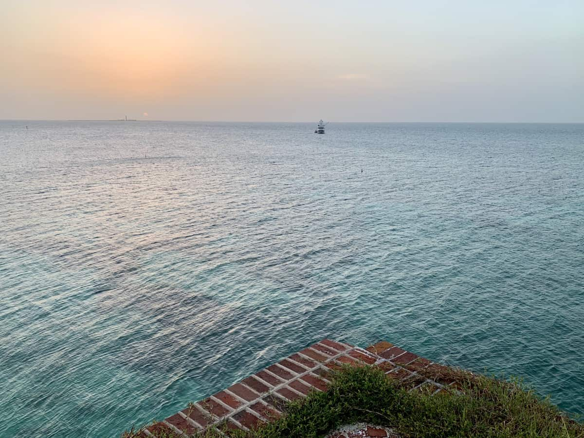 Sunset from the top of Fort Jefferson in Dry Tortugas