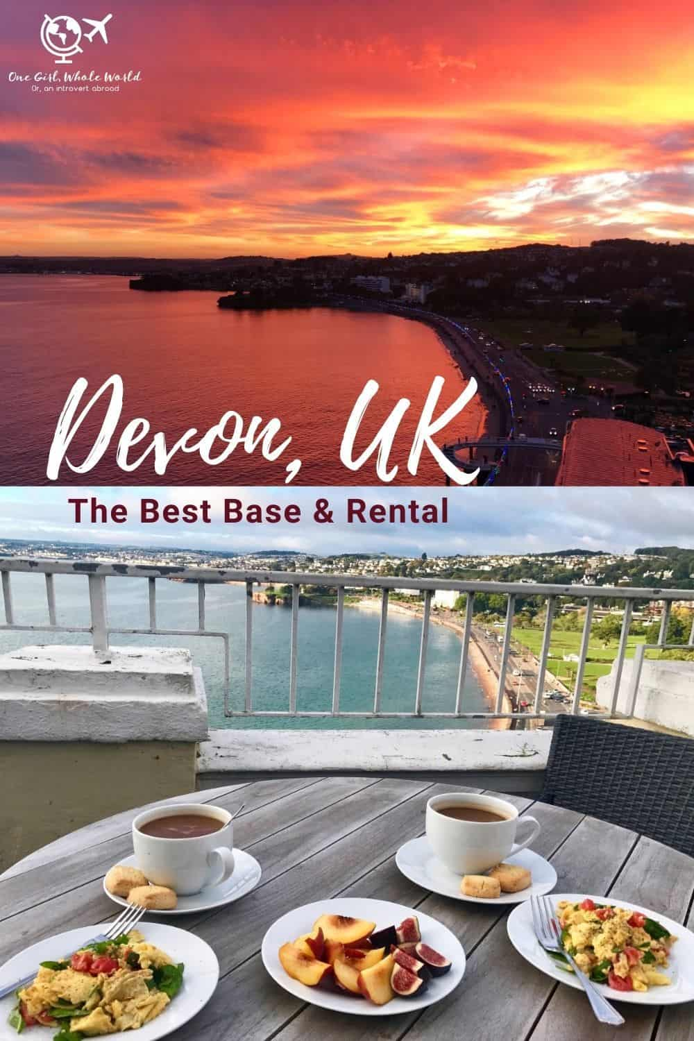 The Best Place to Base Yourself in Devon, & the Cutest Rental | If you're planning a trip to the south of England and wondering where to stay in Devon, look no further than Torquay...I share the Airbnb we rented and absolutely loved, with the best ocean sunsets! Where to stay in Torquay UK, Torquay rentals. #devon #uk #airbnb #england