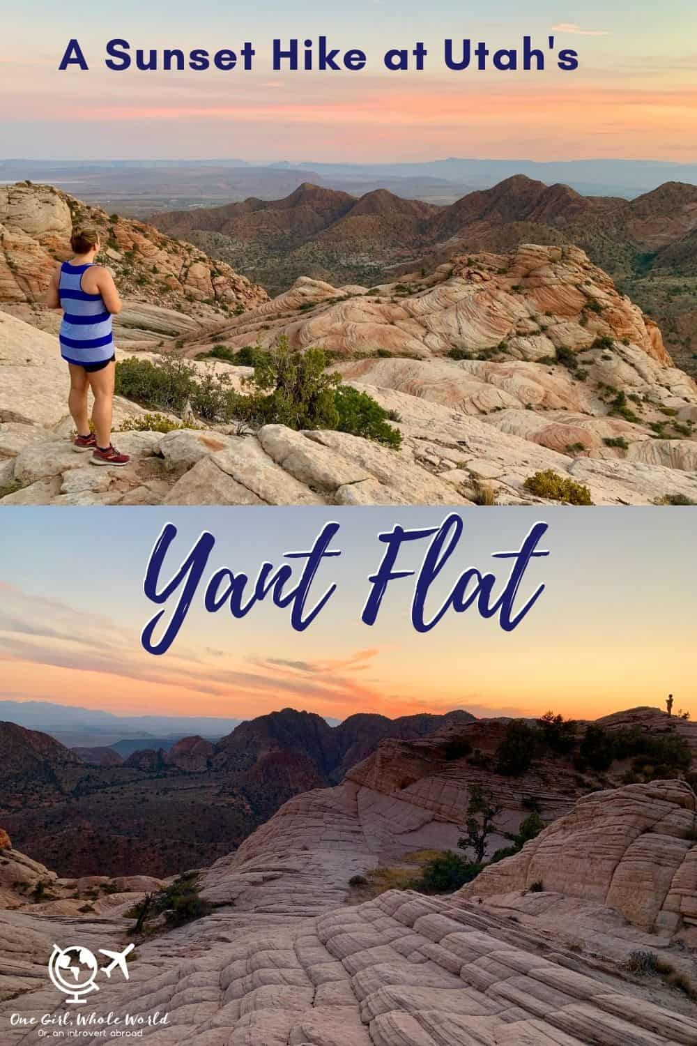 Sunset Hike at Utah's Yant Flat & Candy Cliffs | This beautiful hike near St. George, Utah, is a must if you have a vehicle with 4WD. The hike itself is fairly easy, and at sunset it's stunning. An alternative to Arizona's famous Wave, Utah hiking options, hiking St. George Utah, what to do in St. George. #utah #hiking #stgeorge #yantflat