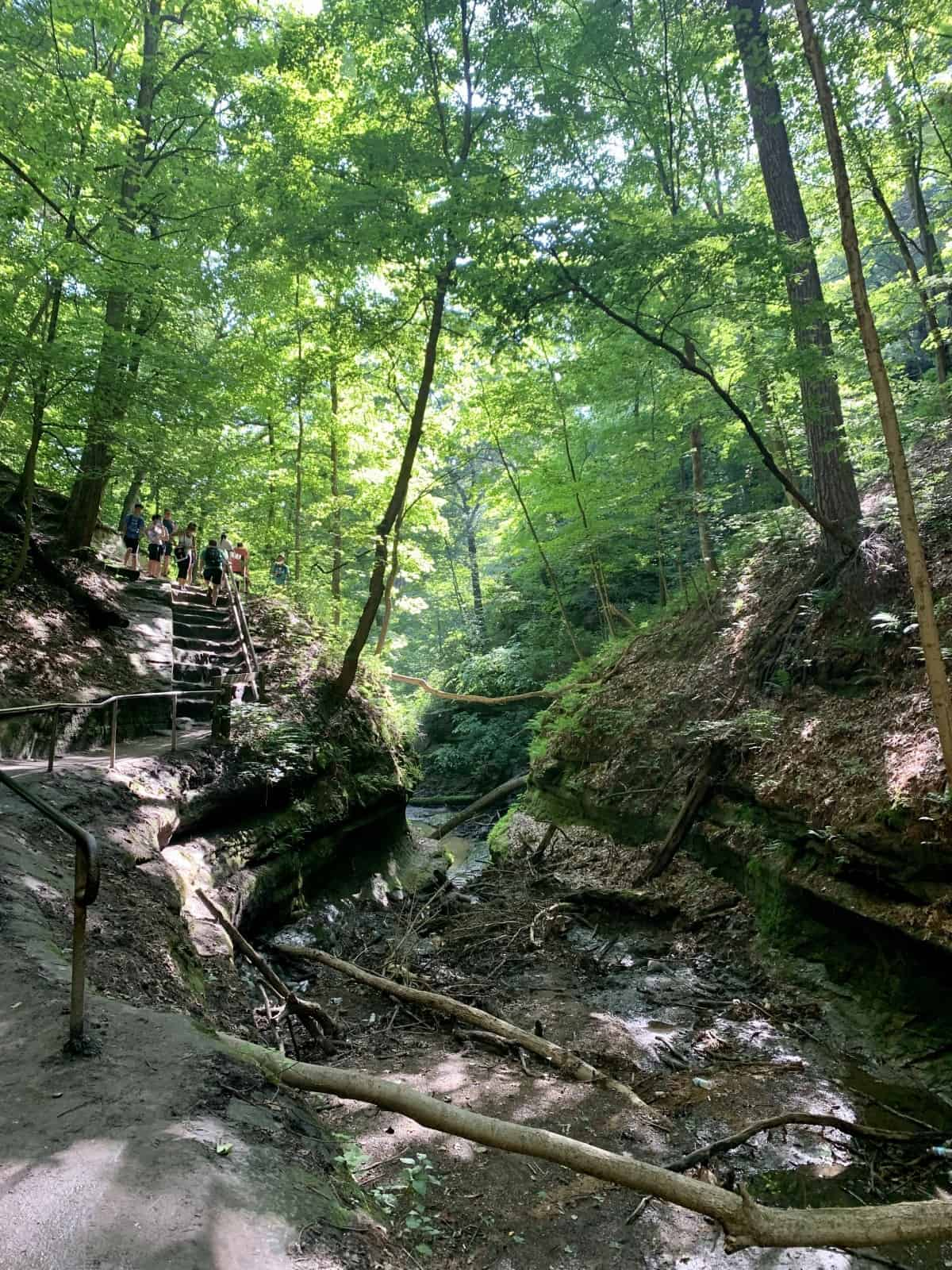 Hiking in Starved Rock State Park, Illinois