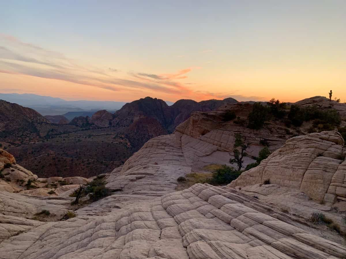 Sunset Hike at Yant Flat & Candy Cliffs, Utah | This beautiful hike near St. George, Utah, is a must if you have a vehicle with 4WD. The hike itself is fairly easy, and at sunset it's stunning. An alternative to Arizona's famous Wave, Utah hiking options, hiking St. George Utah, what to do in St. George. #utah #hiking #stgeorge #yantflat
