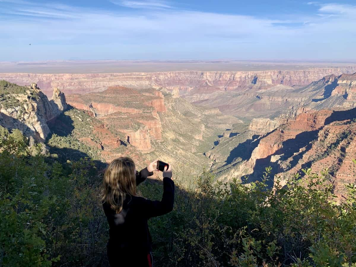 View over the Painted Desert from the North Rim Grand Canyon