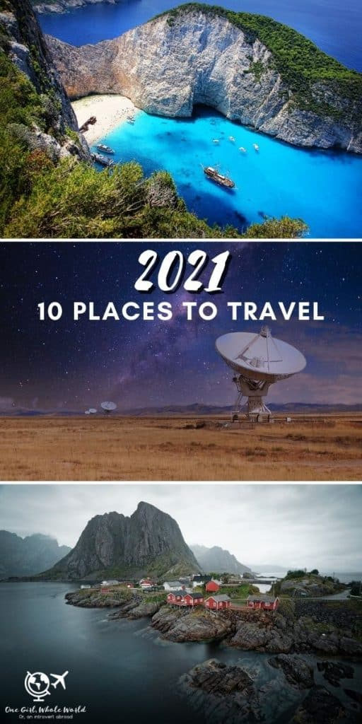 10 Places to Travel in 2021 | If you're trying to figure out where to travel in 2021, I've got some travel destinations for you, keeping COVID in mind. Starting with U.S. domestic travel ideas, where to go in the U.S., and then some international 2021 travel destinations. Hopefully we can all travel again! #2021destinations #travelideas #wheretogo