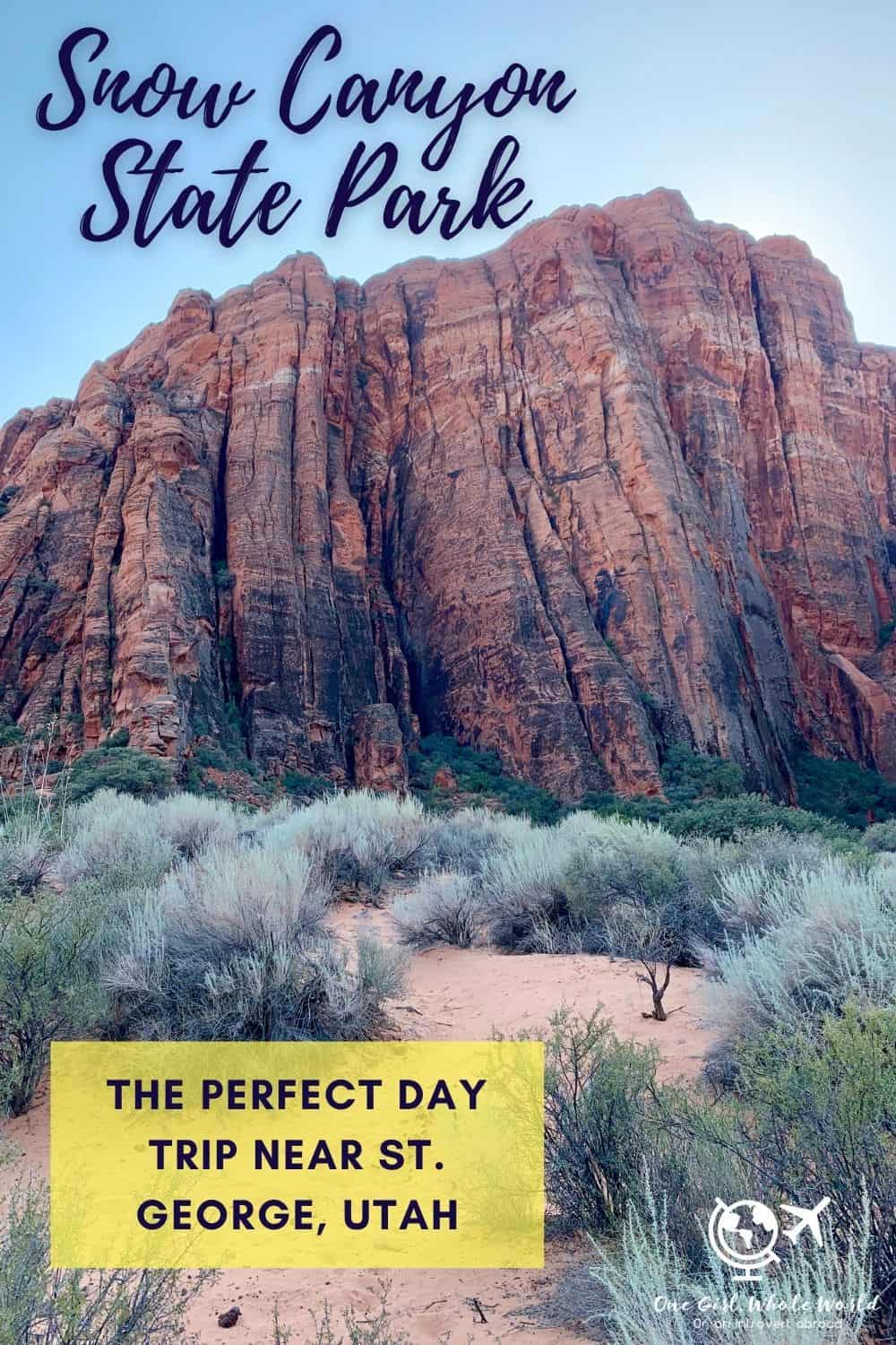 What to Do at Snow Canyon State Park, Near St. George, Utah | This state park is so amazing, it's crazy that it's not a national park! Only 20 minutes from St. George, there are tons of Snow Canyon hikes, beautiful landscapes, vegetation, and more. Good hiking for small children or people who aren't as fit. Utah hiking options, what to do near St. George. #utah #snowcanyon #statepark