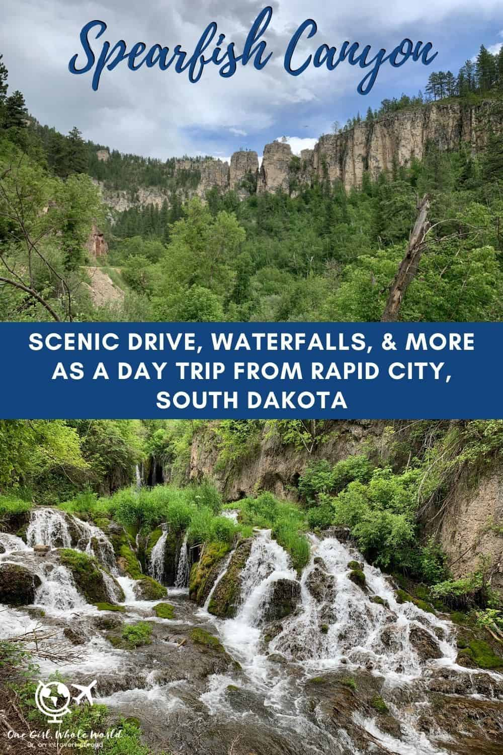 A Day Trip Along Spearfish Canyon Scenic Byway, South Dakota | If you're planning a South Dakota road trip or spending time in the Rapid City area, Spearfish Canyon is a great under-the-radar option for exploring. Easily accessible waterfalls, towering limestone canyon walls, and much more. #southdakota #rapidcity #spearfishcanyon #roadtrip #blackhills