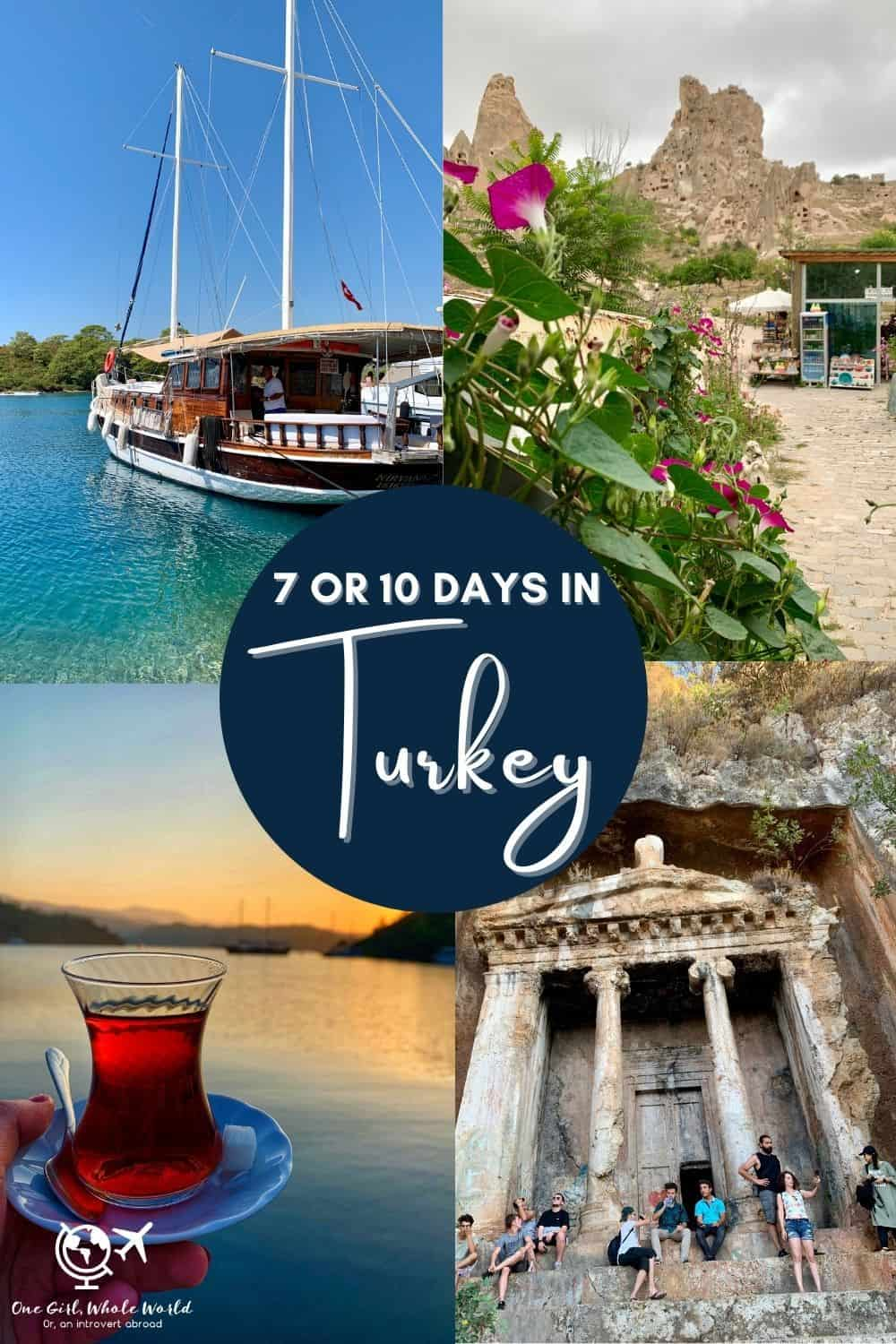 Planning a 7-Day (or 10-Day) Turkey Itinerary | I did an epic 35th birthday trip to Turkey, and share detailed info on how to plan your own 7-day Turkey itinerary...what to do with a week in Turkey, where to go, 10 days in Turkey, Turkey itinerary ideas. 7 days in Turkey will make you fall in love! #turkey #itinerary #traveltips