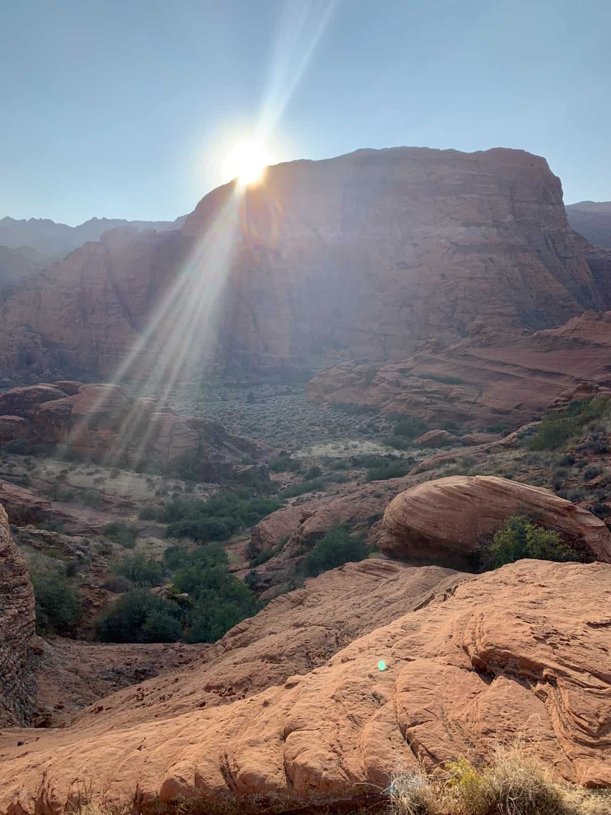 The colorful rock formations of Snow Canyon State Park