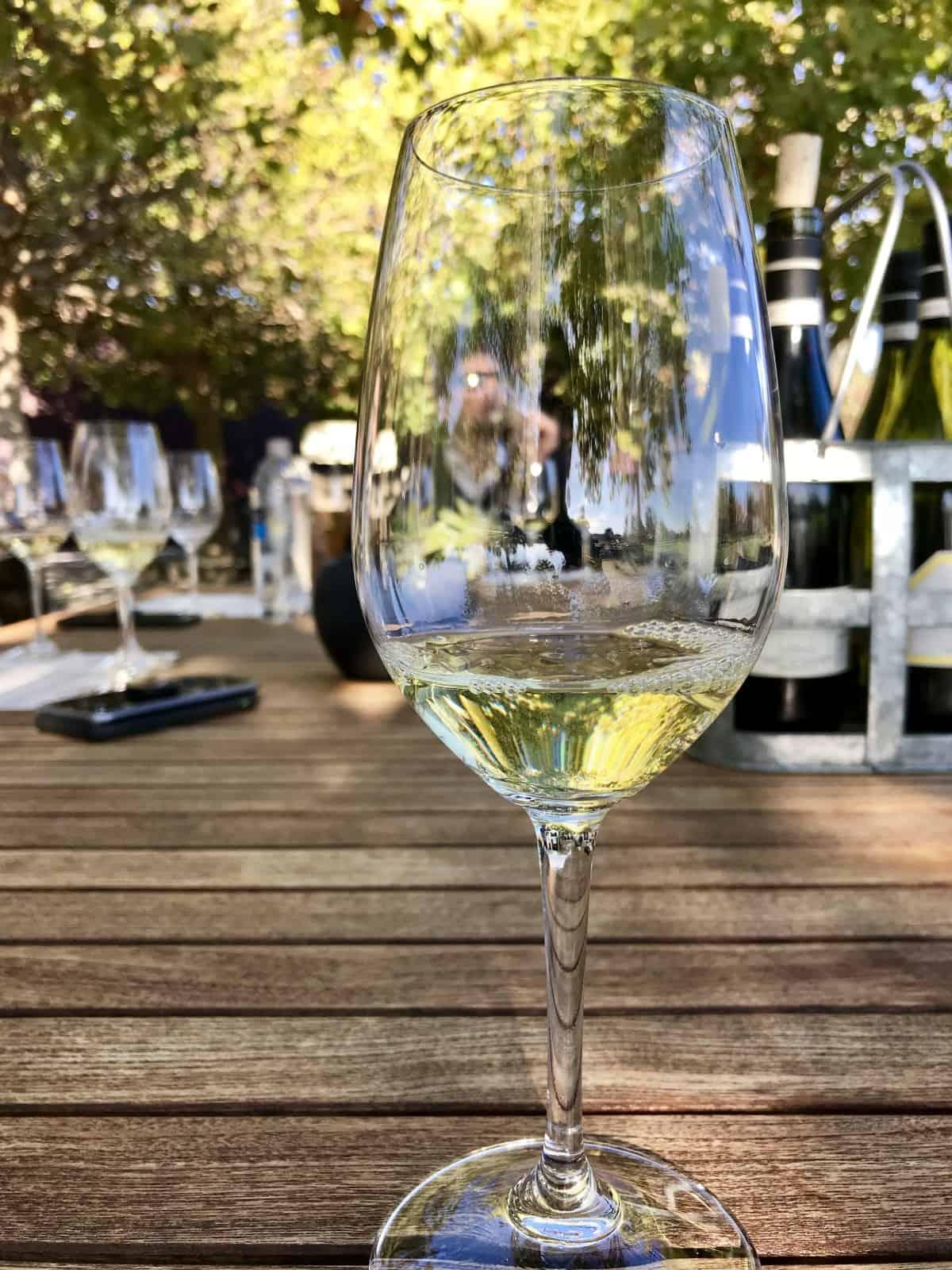 Tasting some of Sonoma-Cutrer's chardonnays