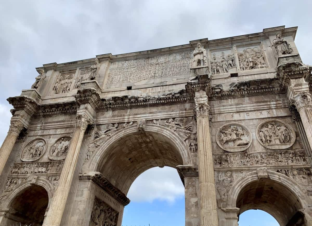 Visiting the Arches of Titus and Constantine - things to do in Rome