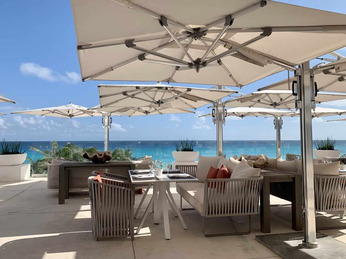 The views and breakfast at Terraza were great - LeBlanc Cancun restaurants
