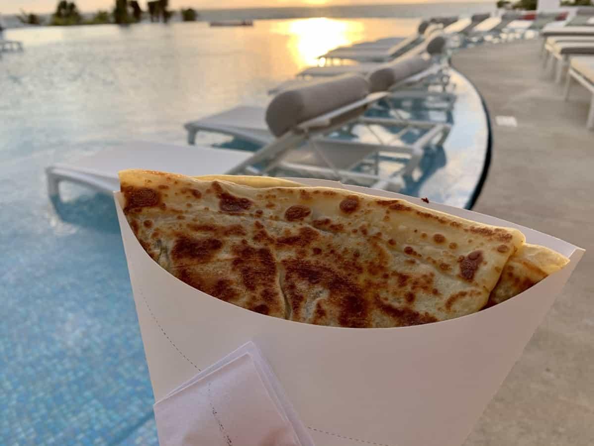 Warm fresh crepes and sunrise - LeBlanc Cancun restaurants