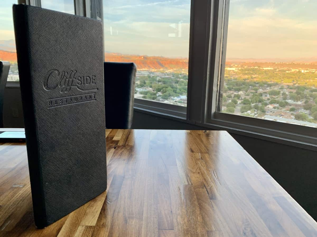 Things to do in St. George - Cliffside Restaurant is a must-try!