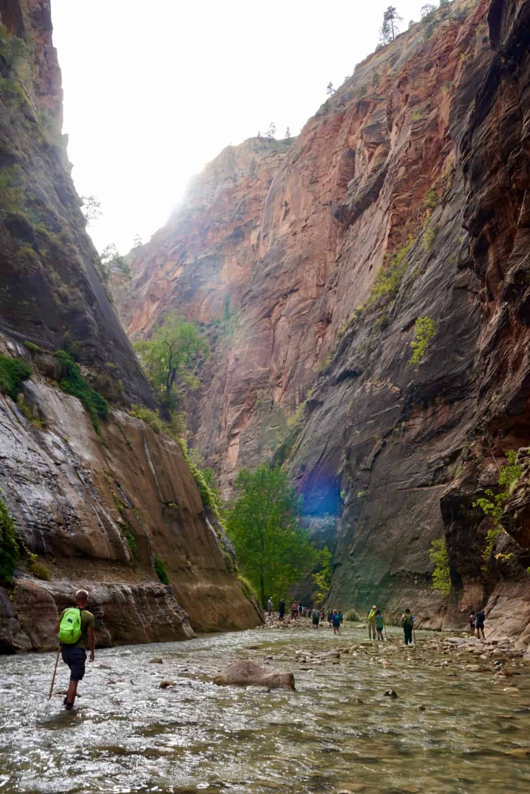 Hiking the Narrows is still a great option for visiting Zion during COVID, but you need to plan ahead